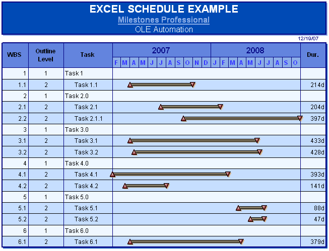 Automation Interface: Microsoft Excel VBA Examples – Project